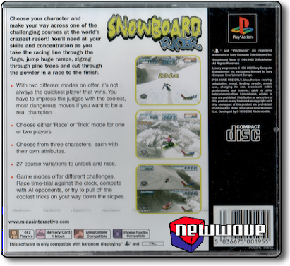 Snowboard Racer background